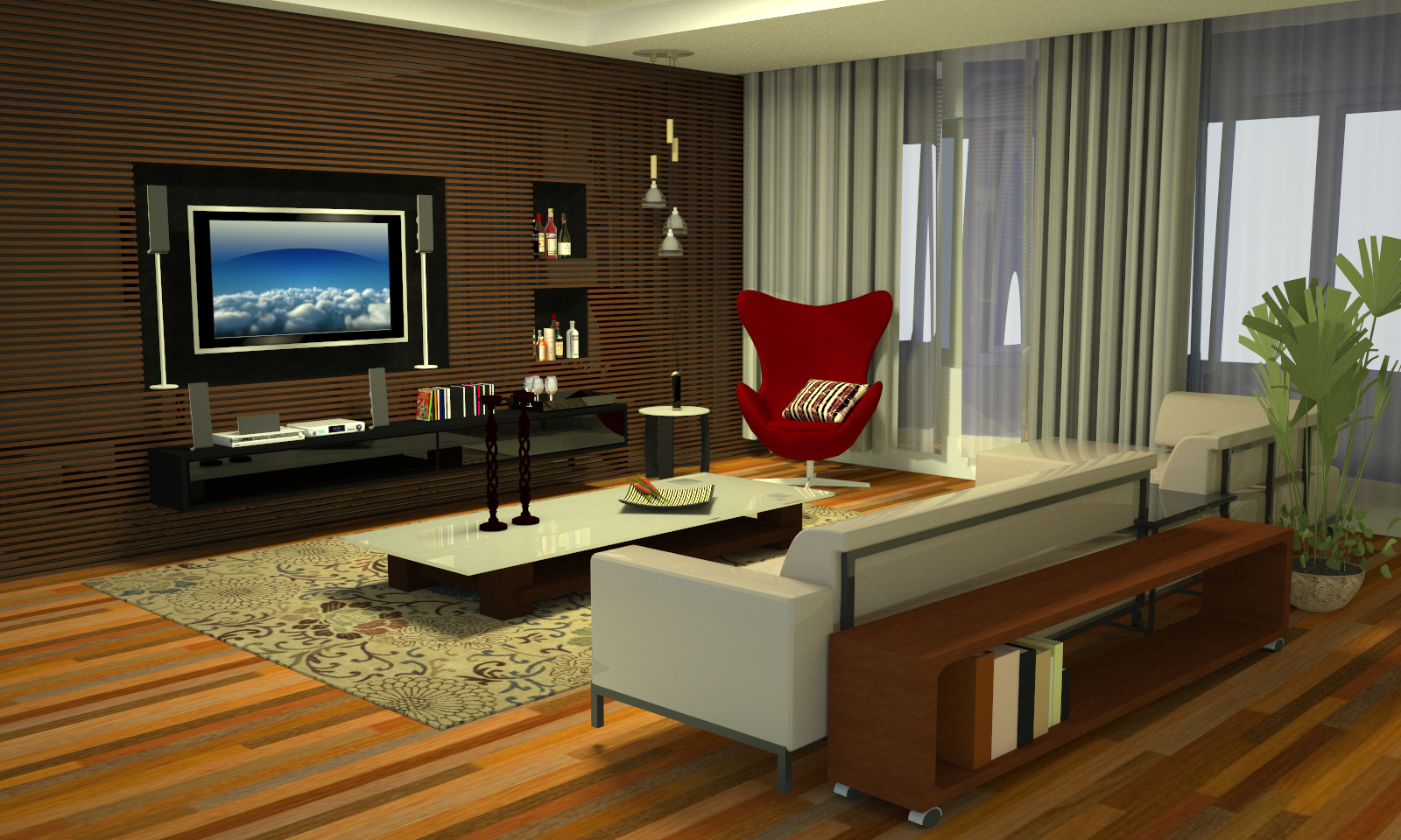 Designer Sala Interior Design Sala Fancy Inspiration Ideas Tv Wall  -> Sala De Tv Com Almofadas No Chao